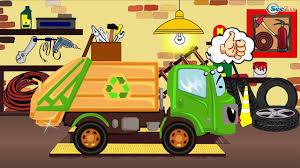 monster trucks races cartoon cars car cartoon monster truck garbage truck fire truck racing