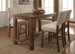 counter height table with chairs telara rustic finish counter height table set