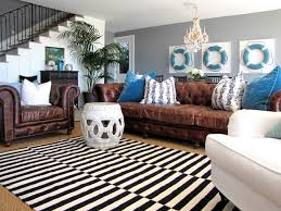 Decorate With Leather Furniture Houzz - Leather sofa interior design