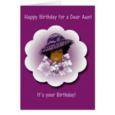 black birthday for aunt greeting cards zazzle