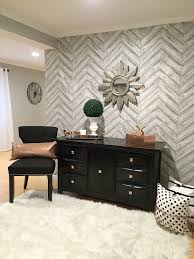basement glam with tempaper crazy chic design