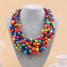 round bead necklace images 2018 2017 new fashoin bohemia beads necklace jewelry color resin jpg