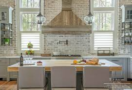 brick backsplash in kitchen gray brick backsplash gray brick backsplash white and gray kitchen