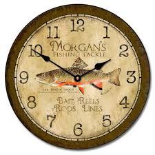 fly fishing home decor fishing clock the big clock store