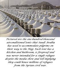 air conditioned tents why are the muslim refugees heading to europe and not arabia