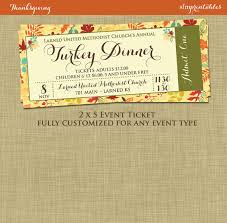 fall turkey dinner event ticket harvest thanksgiving