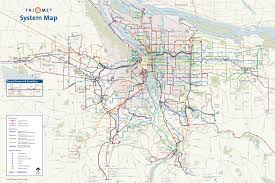 Forest Park Map Portland by Portland Transport Map U2022 Mapsof Net