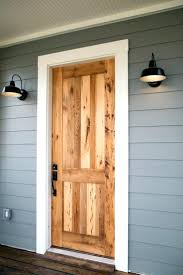 Exterior Pine Doors Front Doors 36 In X 80 In Craftsman Rustic 1 4 Lite Stained