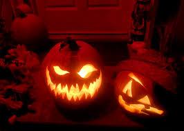 extraordinary image of kid spooky predator pumpkin carving for