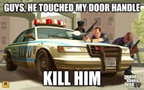 Doge Car Meme - grand theft auto police logic meme