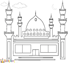masjid coloring pages coloring kids