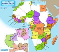 map of africa with country names africagame