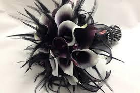 black calla seductive elegance real touch calla bridal wedding bouquet