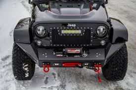 jeep custom black jeep jk stealth fighter front bumper add offroad