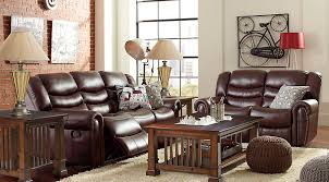 Triple Recliner Sofa by Joshua Brown 3 Pc Living Room Living Room Sets Brown