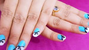 cute easy simple bow nail art for party easy nail art for