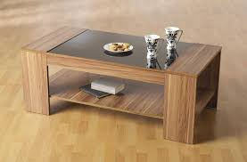 coffee table glamorous wood and glass coffee table ideas round