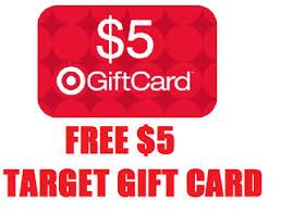 5 gift card free 5 target gift card