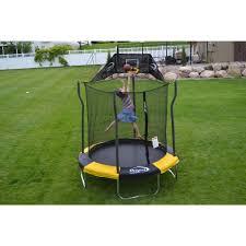 propel trampolines 7 u0027 trampoline with basketball hoop