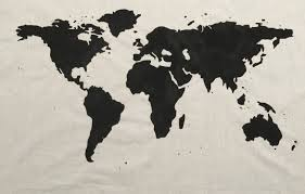 Map Of The World Art by Sale World Map Wall Tapestry In Black