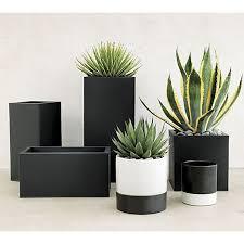 Cheap Patio Pots Best 25 Black Planters Ideas On Pinterest Tall Planters