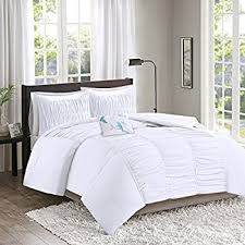 amazon com chezmoi collection sydney 6 piece pintuck comforter