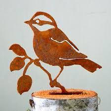 garden design bird silhouettes beautiful handcrafted