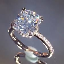 daimond ring of course she said yes a cushion cut beauty from
