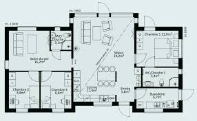plan de maison 6 chambres plan maison 6 chambres awesome nouveau plan de maison plain pied 3