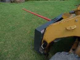 low back hay spear attachment for skid steer loader skid steer