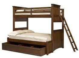bedroom trundle bunk bed with desk terracotta tile decor floor