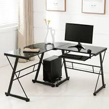 Piranha Corner Computer Desk Genuine Piranha Marlin Black Glass Computer Desk A4 Filing Home
