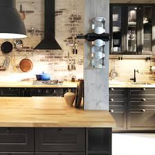 nouvelle cuisine ikea cuisine laxarby living room brick wall bar black laxarby method