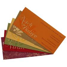 Wedding Invitation Insert Cards Indian Wedding Card With Multicolor Inserts Wedding Invitations