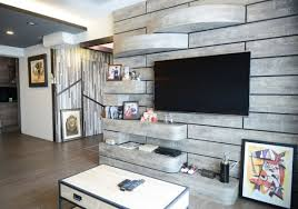 Living Room Tv Console Design Singapore Medley Of Wood And Metal Create Rustic Ambience In Couple U0027s 4 Room
