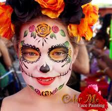 sugar skull makeup color me face painting vanessa mendoza