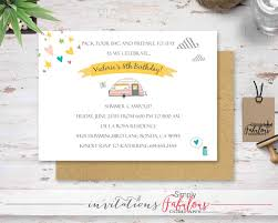 camping invitation summer campout birthday party invitation