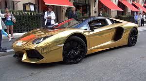 gold lamborghini aventador gold lamborghini aventador roadster loud driving pursuit