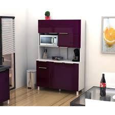 enfilade cuisine aucune lova buffet cuisine 120 cm aubergine haute brillance 264026