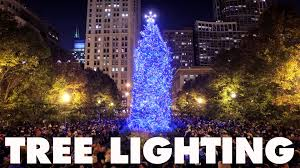christmas tree lighting near me chicago s 102nd christmas tree lighting ceremony youtube
