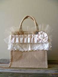 Shabby Chic Shopping by French Farmhouse Shopping Tote Burlap Shabby Chic Bag Pastels