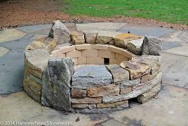 Firepit Stones Pits Fireplaces Hammerhead Stoneworks Asheville