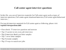 Resume Sample Call Center Agent by Callcenteragentinterviewquestions 140901222241 Phpapp01 Thumbnail 4 Jpg Cb U003d1409610196