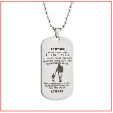 photo gifts necklace images Always remember to my son gifts dog momento love tag dad mens boys jpg