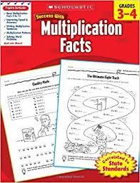 amazon com scholastic success with multiplication facts grades 3
