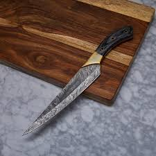 handmade kitchen knives handmade damascus kitchen knife kch 23 evermade traders