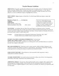 A Teacher Resume Examples by Objective For A Teacher Resume Samples Of Resumes