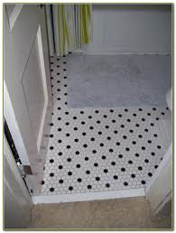 black white bathroom floor tile hexagon tiles home decorating