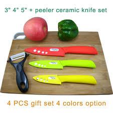 tingting kitchen ceramic set knives kit 3