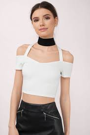 cold shoulder tops white crop top cold shoulder top white top white crop